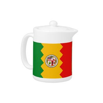 Los Angeles Flag Teapot