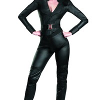 Disguise Marvel's Avengers Movie Black Widow Avengers Deluxe Adult Costume, Black, Small/(4-6)
