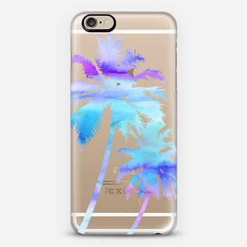Palm Trees - Watercolor - Purple & Blue iPhone 6 case by Happy Cat Prints | Casetify