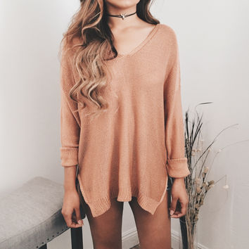Betty Oversized Sweater (Faded Rose) | ootdfash