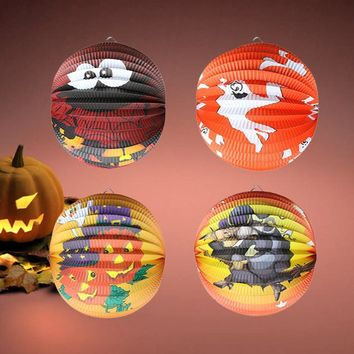 Halloween Pumpkin Paper Lantern, Hanging Light Party Decoration new arrival #0814