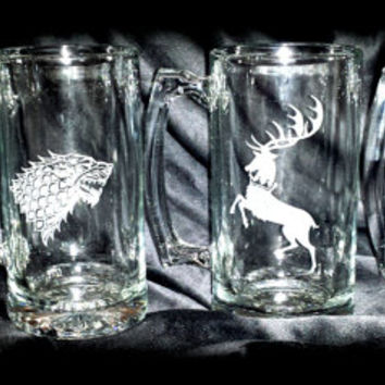 Game of Thrones 4 House 27oz Tankard Set
