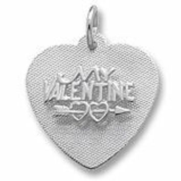 Be My Valentine Charm In Sterling Silver