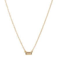 FOREVER 21 Minimalist Faux Gem Necklace Gold/Clear One