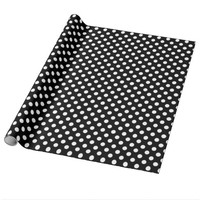 Black With White Polka-dot Wrapping Paper