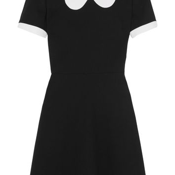 Scallop-collar wool-crepe mini dress | VALENTINO | Sale up to 70% off | THE OUTNET
