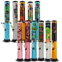 "15"" Acrylic Water Pipe + Popular Sticker Design + Color"