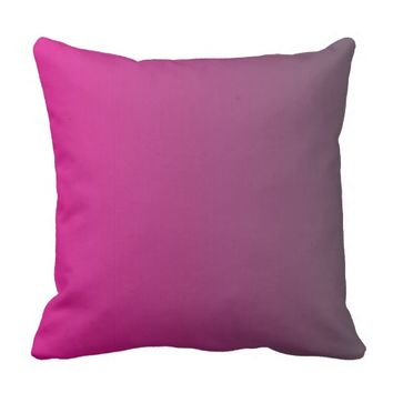 """Fushia Color"" Design"" Throw Pillow"