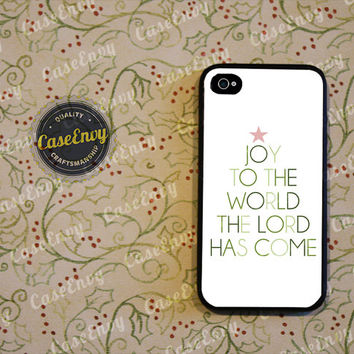 Joy To The World Phone Case! Choose iPhone 4 / 4s / 5 / 5s or Galaxy S3 / S4