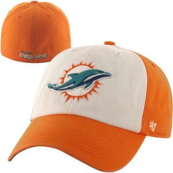 47 Brand Miami Dolphins New Freshman Fitted Hat - Orange