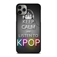 KEEP CALM AND LISTEN KPOP iPhone Case Cover