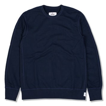 Mid Weight Terry LS Crewneck (Navy)