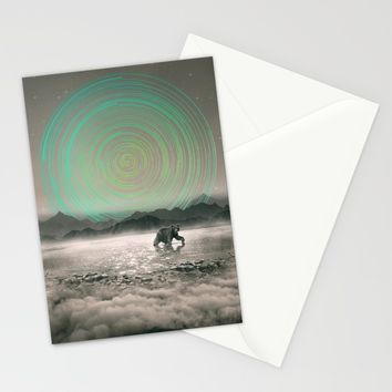 Spinning Out of Nothingness Stationery Cards by Soaring Anchor Designs | Society6
