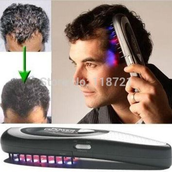 Laser Treatment Comb Stop Hair Loss Promotes The Of New Hair Growth Regrowth Hair Loss Therapy