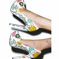 SKULLY STILETTO PUMPS