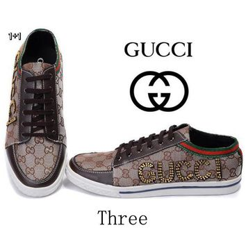 Gucci Women Or Men Fashion Cool Edgy Casual Shoes