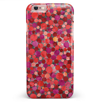 Mixed Red Watercolor Dots iPhone 6/6s or 6/6s Plus INK-Fuzed Case