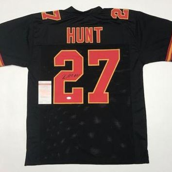 Kareem Hunt Signed Autographed Kansas City Chiefs Football Jersey (JSA COA)