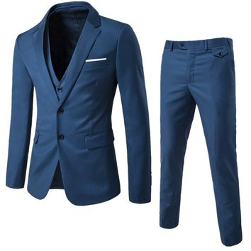 High Quality Spring Business and Leisure Suit A Three-piece Suit The Groom's Best Man Wedding