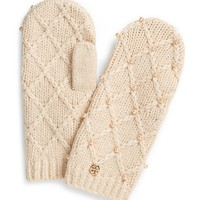 Tory Burch Pearl Cable Mitten