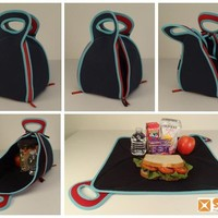 FlatBox-LunchBox - Folds Out to a Placemat