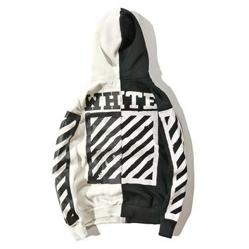 Trendsetter Off-White Women Man Fashion Sport Casual Top Sweater Pullover Hoodie