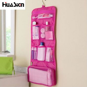 Tourist season Hanging on the wall Organizer Bag Foldable Travel Cosmetic Bag Large Capacity storage bag