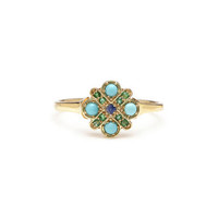 Turquoise 4-Cross Ring
