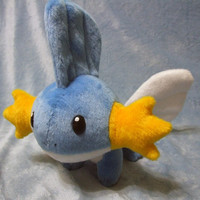 Pokemon inspired Mudkip Hoenn starter 30 cm long plushie made of minky, super cuddly!