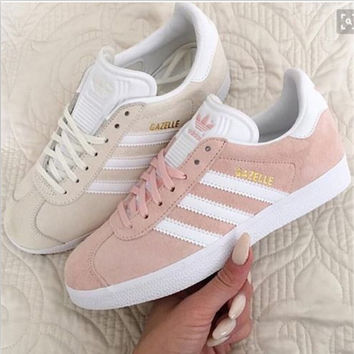 adidas rose gold gazelle