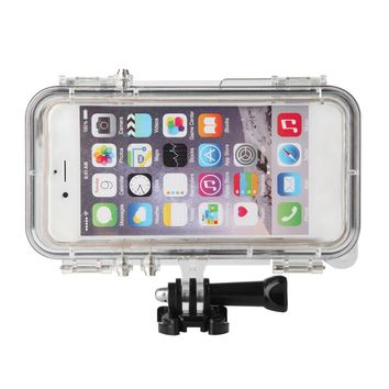 SUPER Waterproof Sports Phone Case  for iPhone 6 & 6s Built-in Longer for GoPro Adapter