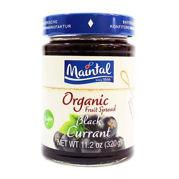 Maintal Organic Blackcurrant Fruit Spread, 11.2 oz (320 g)