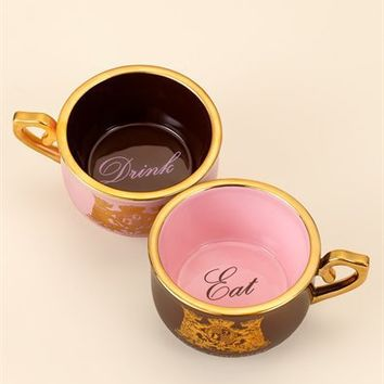 Set of Two Tea Cup Dog Bowls - Juicy Couture