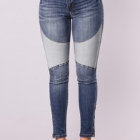 Slow Down Ankle Jeans - Dark Denim