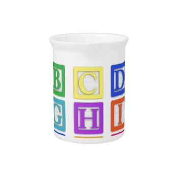 Block Letters Beverage Pitcher