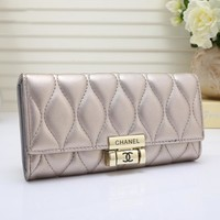 Chanel Women Leather Purse Wallet H-YJBD-2H