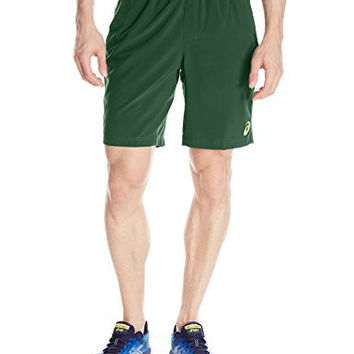 ASICS Men's Club Woven 9-Inch Tennis Shorts - Oak Green, XX-Large
