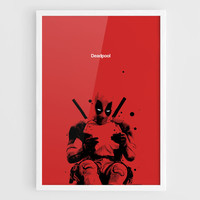 Deadpool 2016 Movie Poster (Deadpool Poster, Deadpool Art, Deadpool Print, Marvel Comics, Marvel Poster) - A3 Wall Art Print Poster