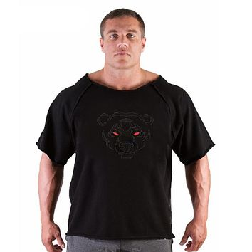 Men's High Elastic T-Shirt Spring Summer Golds Bodybuilding And Workout Clothes Cotton T Shirts