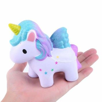 US Cartoon Unicorn Jumbo Squishy Squeeze Toy Stress Relief Slow Rising Toy Gift 6911638070805