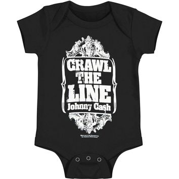 Johnny Cash Boys' Crawl the Line Bodysuit Black