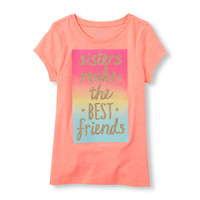 Girls Short Sleeve 'Sister's Make the Best Friends' Graphic Tee   The Children's Place