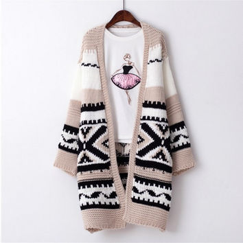 Autumn Knit Tops Women's Fashion Korean Thicken Jacket [8422524289]