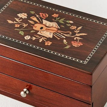 Mele & Co. Brynn Florentine Motif Wooden Jewelry Box | Urban Outfitters