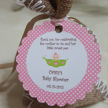 Personalized Favor Tags 2.5'', Baby Girl or Boy Shower tags, Thank You tags, Favor tags, Gift tags, Rustic Tag