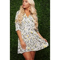 Here To Slay Floral Dress (Yellow)