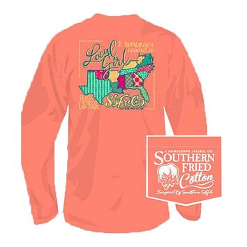 Local Girl Long Sleeve Tee in Push Pop by Southern Fried Cotton