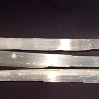 Large selenite Wand Meditation, Energy Shield. Rough, Raw, Psychic Powers, Grids, 10 inches by 1.75 inches, Free Ship