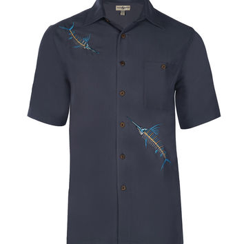 Men's Marlin X Embroidered Fishing Shirt