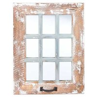 9-Pane Antique Wood Wall Mirror | Hobby Lobby | 990259
